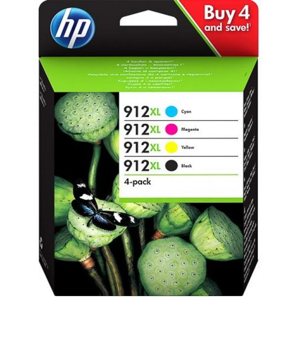 Pack de 4 tinteiros Originais HP 912 XL 3YP34AE